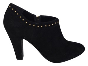 Tahari Suede Rivets Chic Black Boots