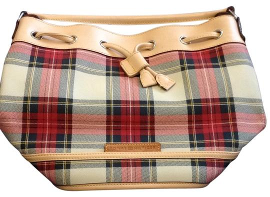 Tommy Hilfiger Satchel in Red Plaid