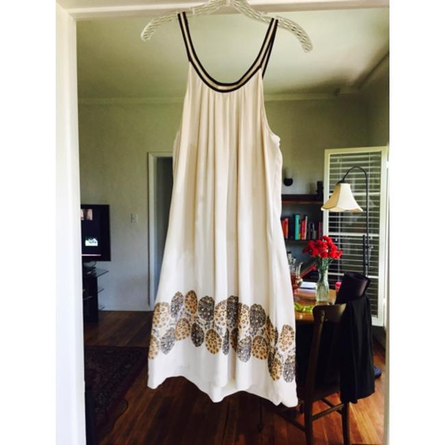 BCBGMAXAZRIA short dress Off white with gold and brown detailing. on Tradesy