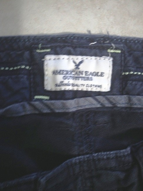 American Eagle Outfitters Pre-owned Gently Used Free Shipping Capris Navy Blue