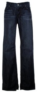 James Jeans Low-rise Stretchy Flare Leg Jeans-Dark Rinse