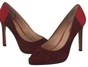 Louise et Cie Marron and Red Pumps