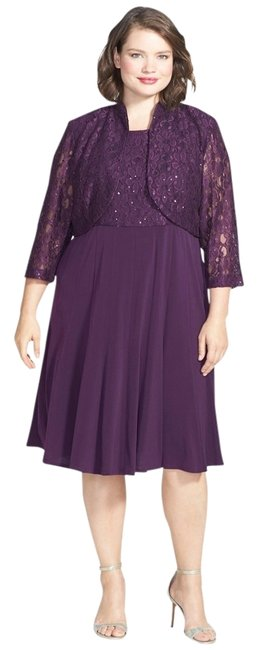 Jessica Howard Plus Size Lace Mother Of The Bride Dress
