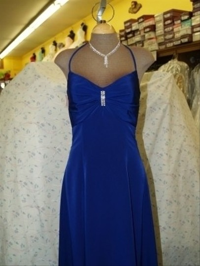 Jordan Fashions Iris Unknown Halter Gown #682 Formal Bridesmaid/Mob Dress Size 2 (XS)