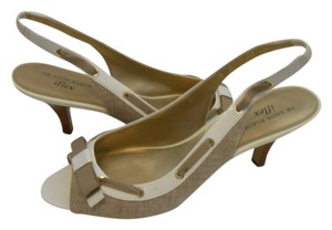 Anne Klein Summer Slingback Iflex Ak Natural/White Sandals