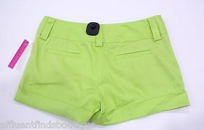Alice + Olivia Lime Chartreuse Linen Cuff Style C211184423 Shorts Green