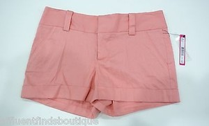 Alice + Olivia Light Cuff Shorts Peach