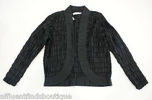 Other Richard K Tsao Crinkle Handwoven Thai Silk Black Jacket