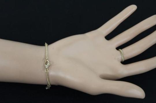 Other Women Gold Metal Thin Hand Chain Wave Bracelet Casual Fashion Slave Ring