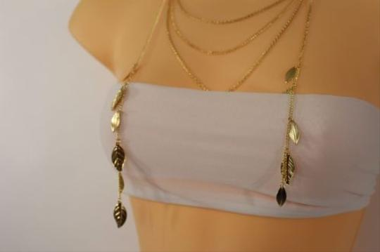 Other Women Gold Metal Layered Necklace Fashion Long