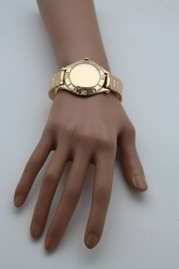 Other Women Gold Metal Elastic Wrist Cuff Bracelet Fashion Jewelry Fake Watch Band