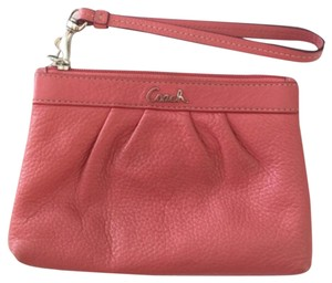 Preload https://item4.tradesy.com/images/coach-coral-leather-wristlet-4747933-0-0.jpg?width=440&height=440