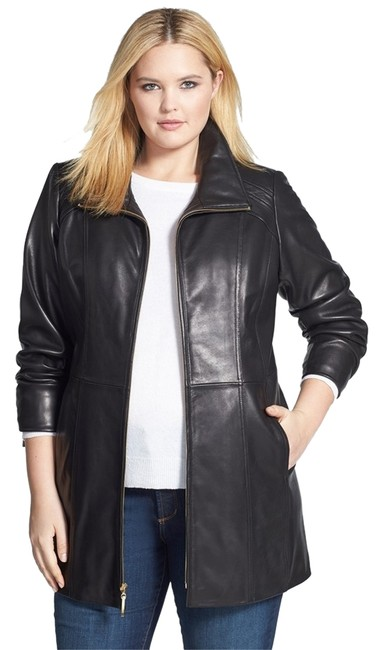 Ellen Tracy Lambskin Real Plus Size New Without Tags Leather Jacket Image 0