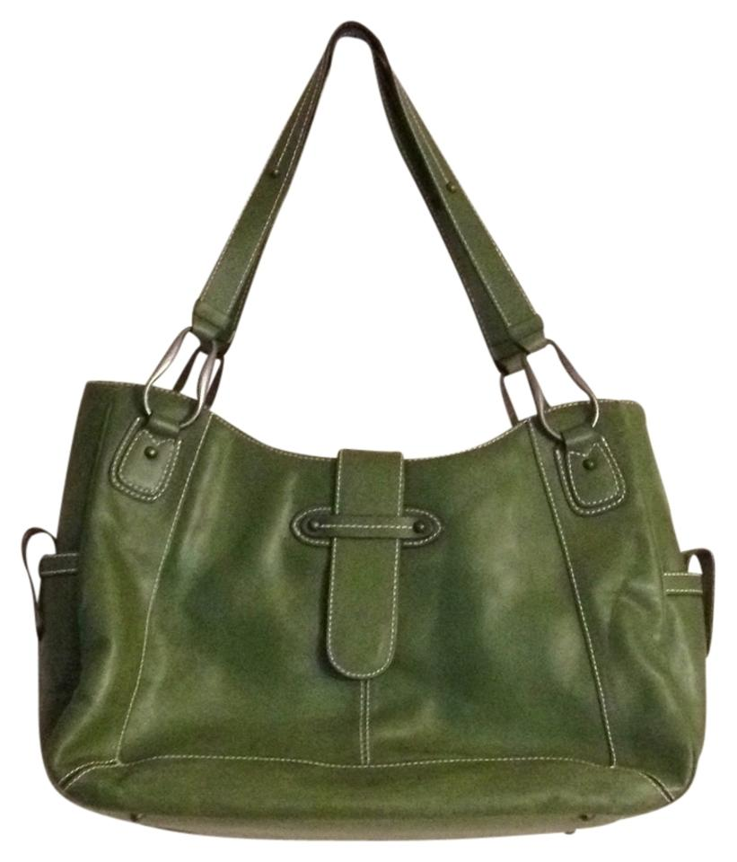 Franklin Covey Green Leather Tote Tradesy