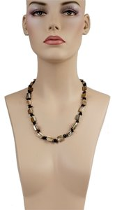 Mother Pearl & Onyx Necklace