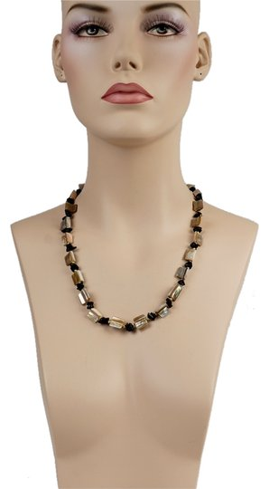 Other Mother Pearl & Onyx Necklace