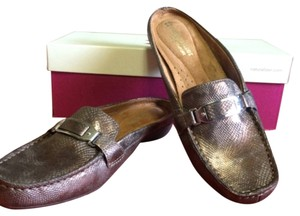Naturalizer Bronze Mules