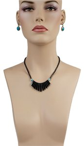 Other Black Volcanic Stone Necklace