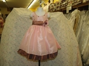 Pink Flower Girl Dress Size 2 Ping/chocolate #3279 Dress