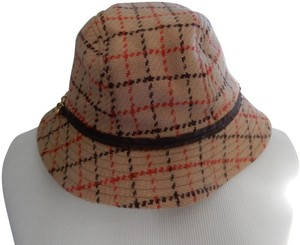 564d0abcb7e Coach  COACH Plaid Bucket Ladies Hat w  decorative leather trim