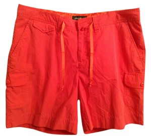 Eddie Bauer 72% 28% Nylon Dress Shorts Nectarine