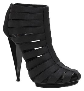 Gucci Sandal Leather Elastic Cone Heel Heels Ankle Isadora High High Heel Suede New Tags Gladiator Black Bootie Boots