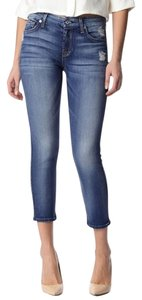 7 For All Mankind Crop Distressed Skinny Jeans-Distressed