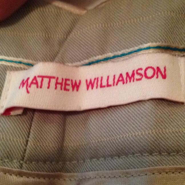 Matthew Williamson Capris Grey with pink and blue stripes