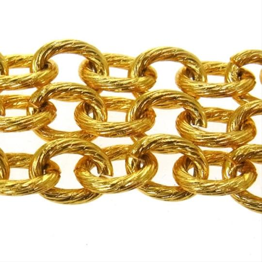 Chanel CC Logo Glass Gripoix Gold Chain Link Necklace Jumbo XL Classic