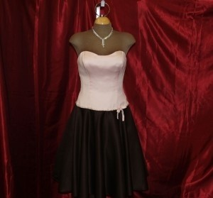 Jordan Fashions Pink / Chocolate Jordan Fashions Short Dress Flirty Short Formal Dress Light Pink Chocolate Size 4 Strapless Includes Straps Beaded Pink Dress