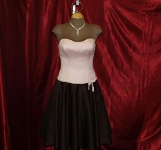 Preload https://item3.tradesy.com/images/jordan-fashions-pink-chocolate-satin-short-flirty-short-formal-light-strapless-includes-straps-beade-47612-0-2.jpg?width=440&height=440