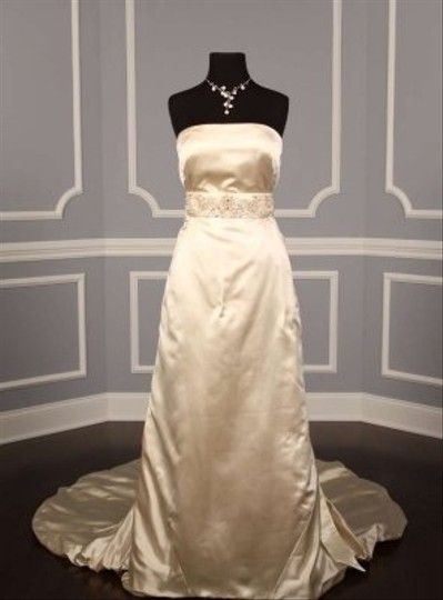 Your Dream Dress Exclusive B537 Crystal Beaded Ivory Satin Sash