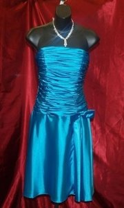 Blue Other Neblome Short Turquoise Charmouse #5 Modern Bridesmaid/Mob Dress Size 6 (S)