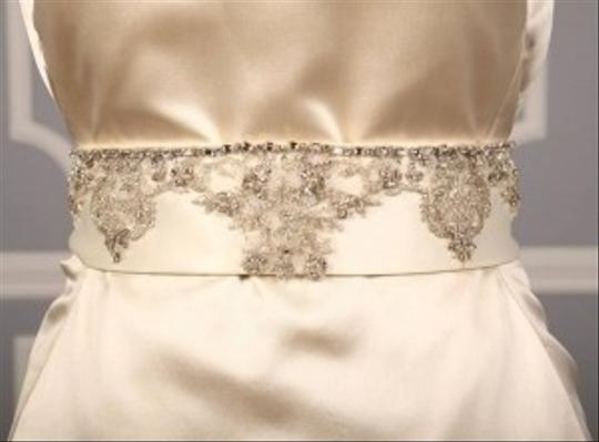 Ivory Your Dream Dress Exclusive B536 Crystal Beaded Satin Sash Sashes