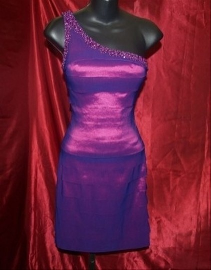 Purple Other Neblome Spandex Xs #6060 Formal Bridesmaid/Mob Dress Size 2 (XS) Image 0