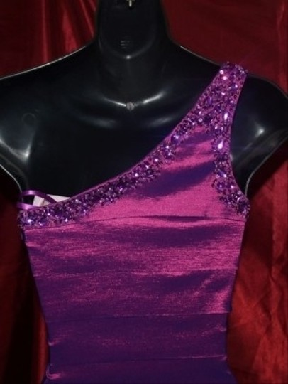 Purple Other Neblome Spandex #6060 Formal Bridesmaid/Mob Dress Size 2 (XS)