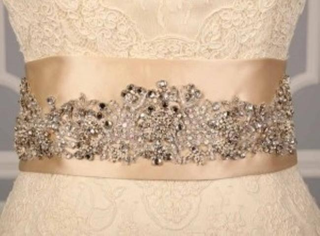 Champagne Your Dream Dress Exclusive B521 Crystal Beaded Satin Sash Champagne Your Dream Dress Exclusive B521 Crystal Beaded Satin Sash Image 1
