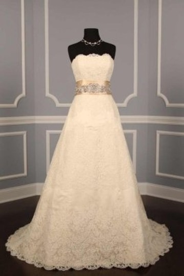 Champagne Your Dream Dress Exclusive B521 Crystal Beaded Satin Sash