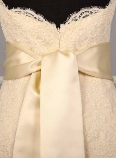 Cream Your Dress Exclusive B523 Crystal Beaded Satin Sash