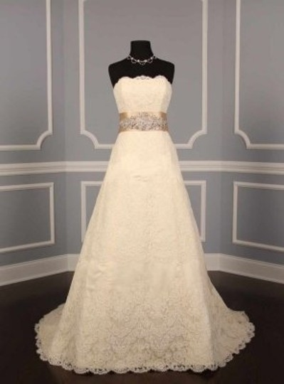 Champagne Your Dream Dress Exclusive B525 Crystal Beaded Satin Sash Sashes