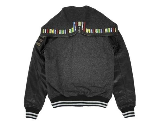 Nike 518973 Womens Wool Leather Bhm Black History Month Destroyer Gray Jacket