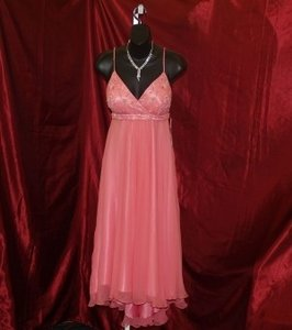 Scala Pink Scala Pink T-length Dress Size: 6 #46564l Dress