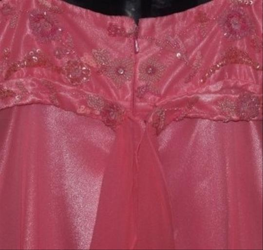 Scala Pink Silk T-length #454l Formal Dress Size 6 (S)