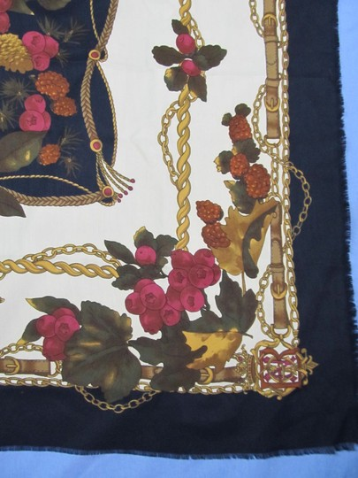 Other Pinecones Berries Scarf Italy Poly Microfiber 34.5 x 34 Symphony