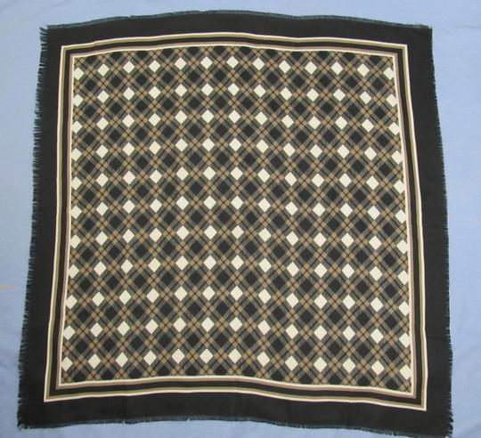 JP Collections Scarf Black Brown White Plaid Italy JP Collections 30.5x30.75