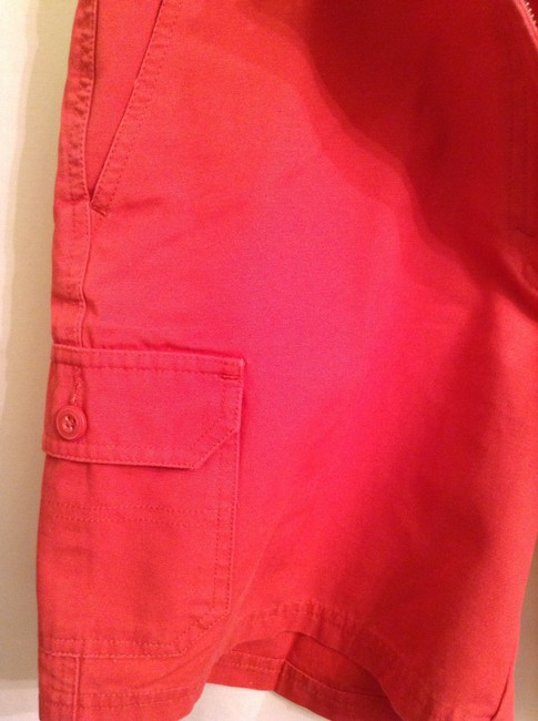 Eddie Bauer Cotton Dress Shorts Burnt Orange