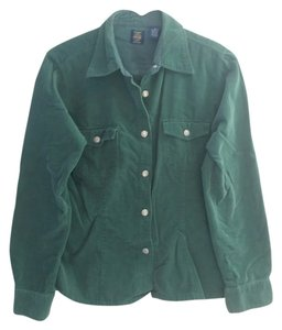 Gap Vintage Button Up Down Button Down Shirt Green