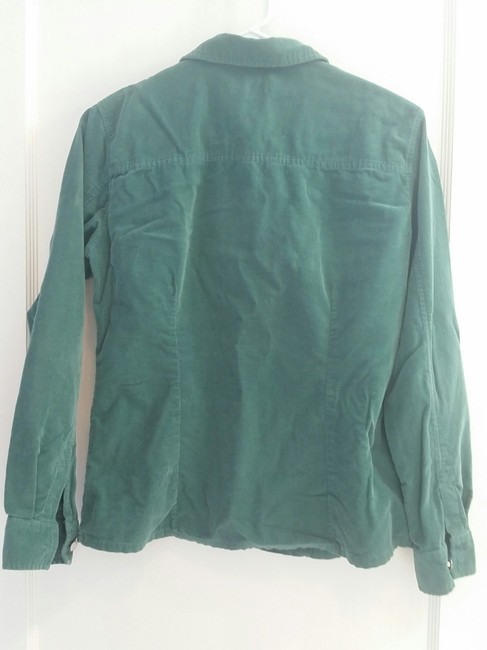 Gap Vintage Button Corduroy Forest Roll Sleeves Button Down Shirt Green