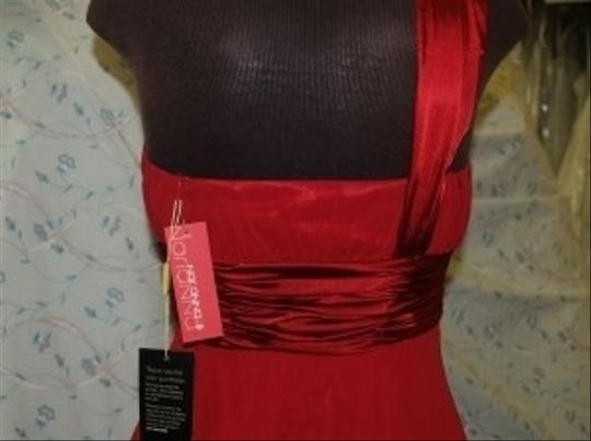 Red Chiffon Mariana Deep Small #2621 Formal Bridesmaid/Mob Dress Size 4 (S)