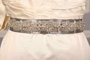 Anne Barge Lf193 B Beaded Platinum Sash